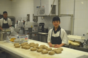 YCI trainee at pastry department