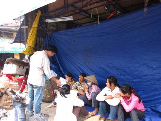 Distributing REACH brochures