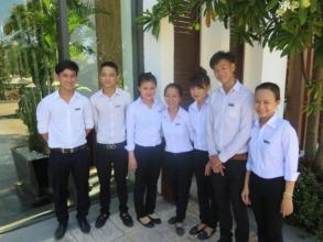 REACH grads working at Sunrise Resort