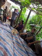 Meeting with elderly people in the area