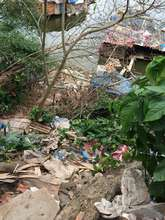 Garbage dumps along walking path