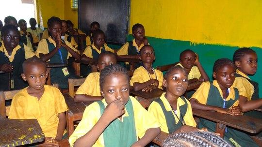 School children in West Point, Monrovia