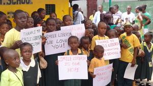 Happy children at Children Hope Community School