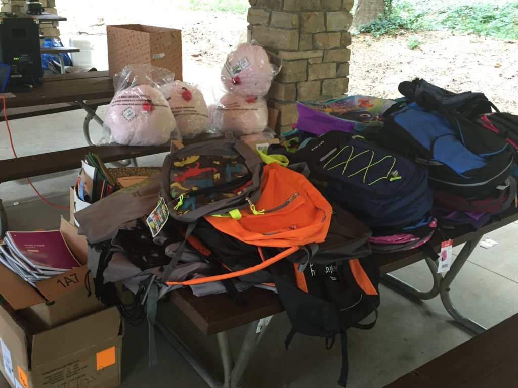 More than 100 backpacks collected