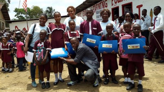 A school in Liberia for children living in poverty
