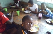 Feed hundreds of children in developing countries