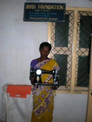 A woman beneficiary