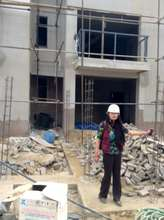 Shan Shan Chen inspects future clinic site