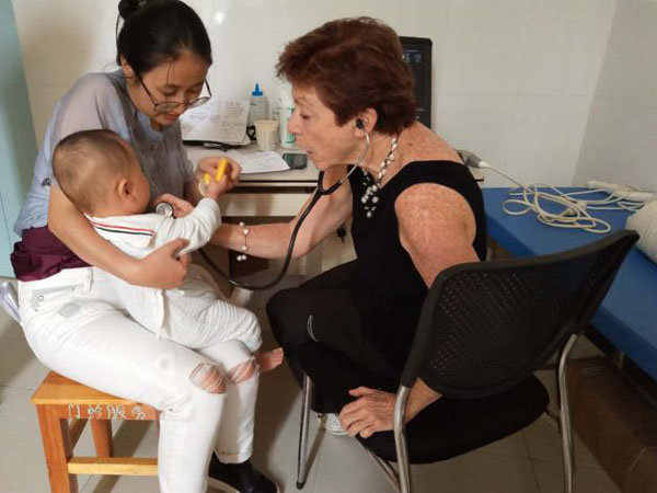 Dr. Judith Becker with patient