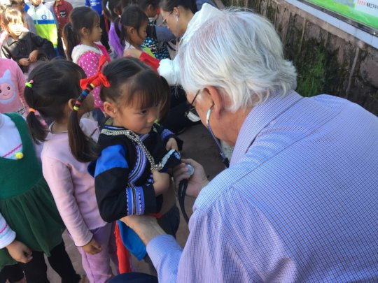 Julio Screening a Child for Heart Disease
