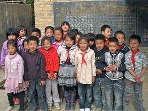 School children posing for a photo