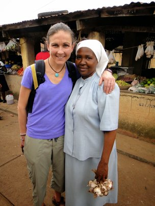 Sara Nelson, GECC Board Member, in Nyakibale
