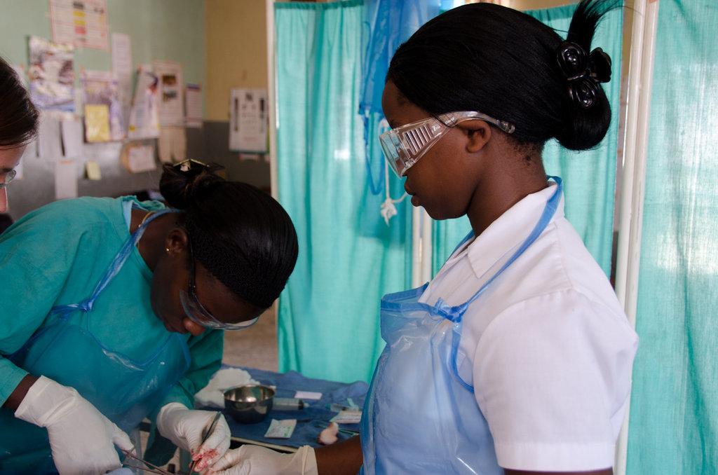 ECPs treating patient in the Emeregency Department