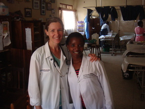 Dr. Stacey & Irene in the ED at Nyakibale
