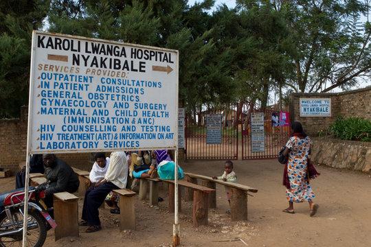 Entrance to Nyakibale Hospital