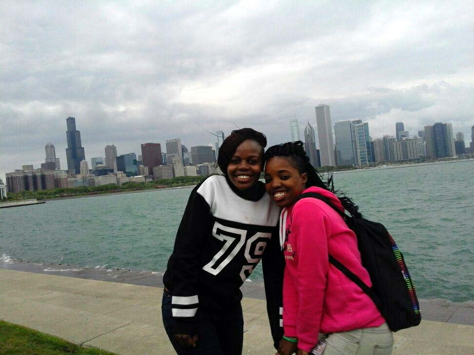 Phoebe and Joanna in Chicago