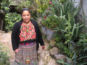 Anastasia Morales with her Container Plantings