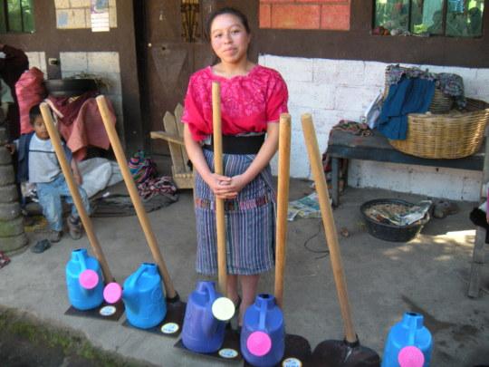 Isabel is ready to start her garden.