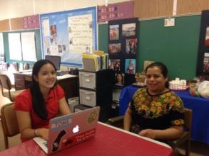 Explaining her Guatemalan Project to Jasmine
