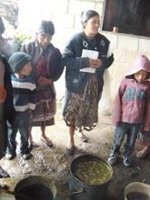 Manuela Explaining How to Make Fertilizar