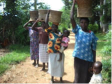 Women with Ceramic Rocket Stoves