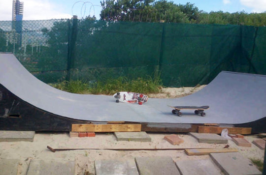 -End product of the mini ramp sponsor