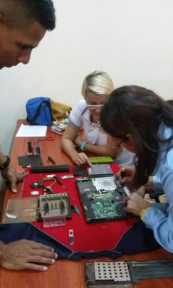 Learning how to fix a laptop