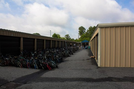 Lots and lots of bikes ready for their new home...