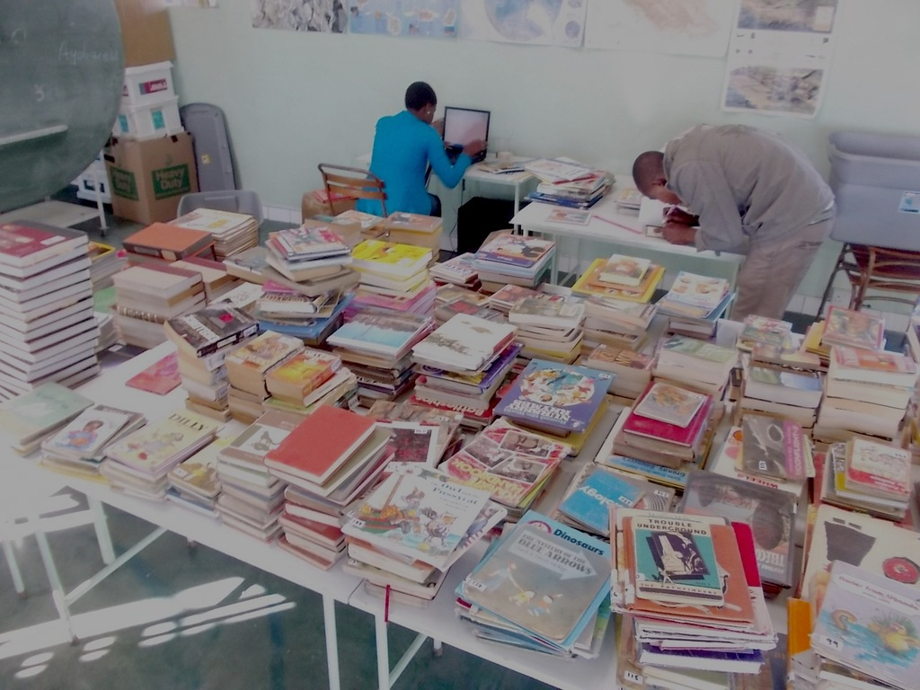 Books for library given by donors are inventoried