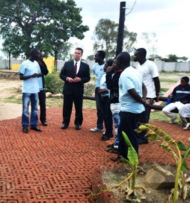 Ambassador Wharton visiting Zimkids