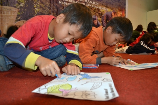 Colouring activities held for children