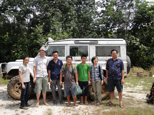 Arriving in Buayan by 4WD