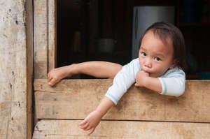 A Dusun child from Bundu Tuhan