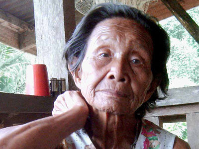 Village elder who told the story of Buayan