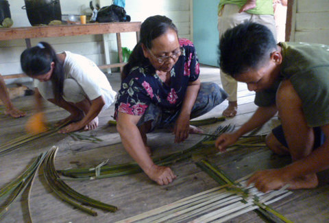 Bamboo weaving workshop
