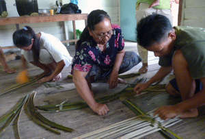 Bamboo weaving workshop