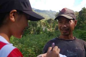 Interview with community for baseline data