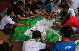 Painting forest types on participatory 3D model