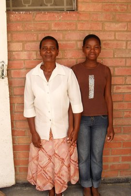 Samantha and her proud grandmother, Neddie