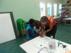 Dr. Sashka does HIV Screening for our pre-school