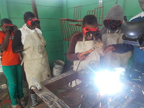 Our girls welding frame for well cap
