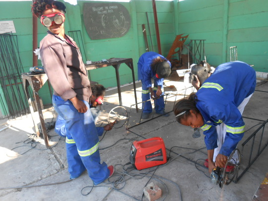 Our ZimGirls welding team at work!