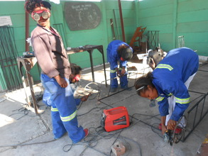 Our ZimGirls welding team at work!