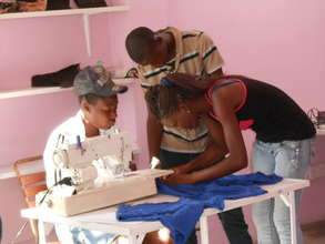 Charity, with us since age 9 now teaches sewing