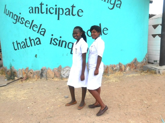 Thamani+ Hlonaphile in their nurse aide uniforms