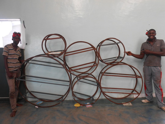 Not quite finished circular shelving