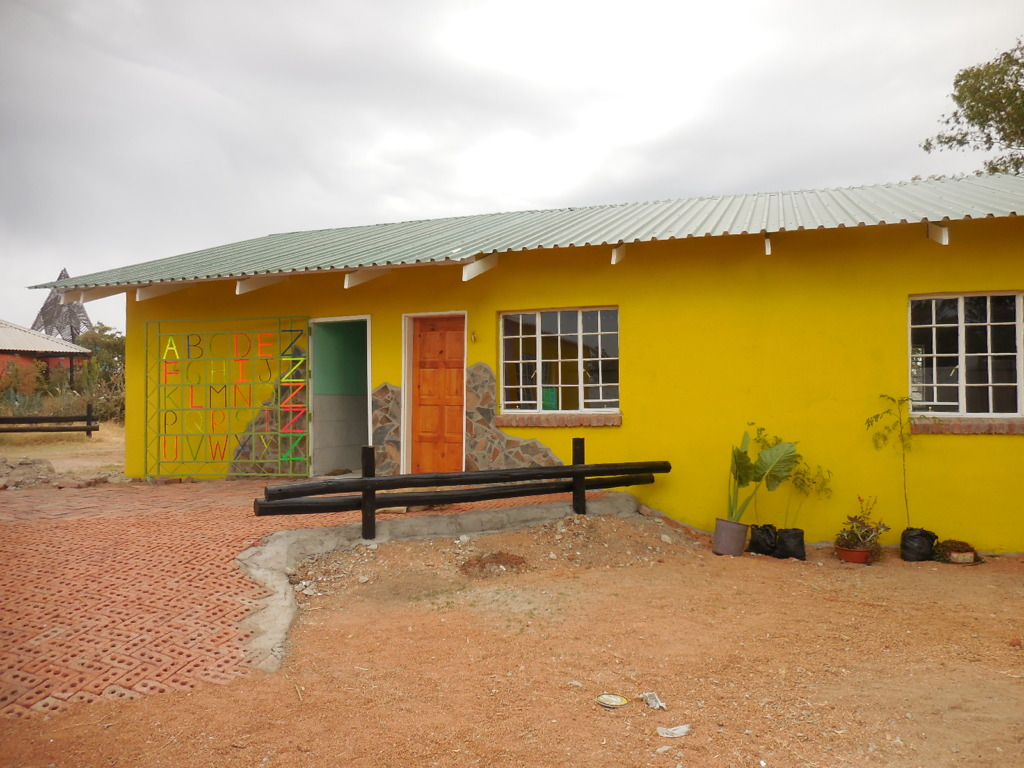 Exterior of new pre-school Gate designed by Peter