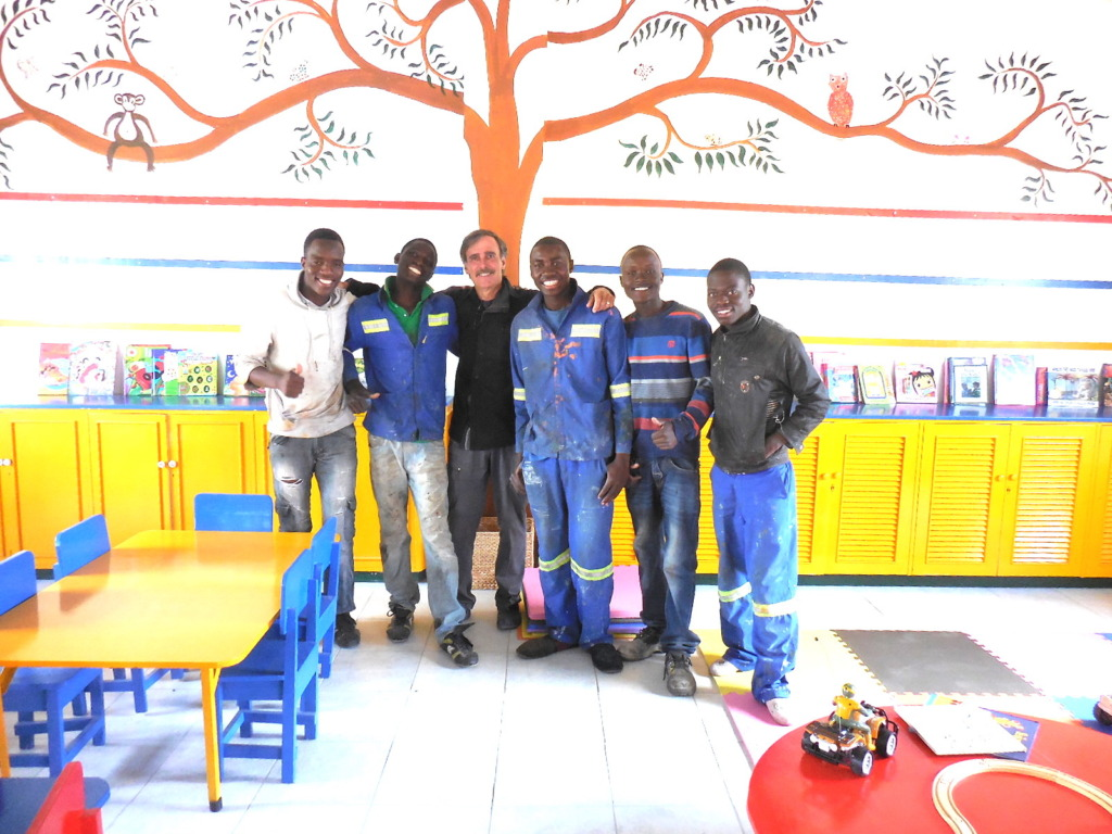 Some of the Zimkids crew with Dennis