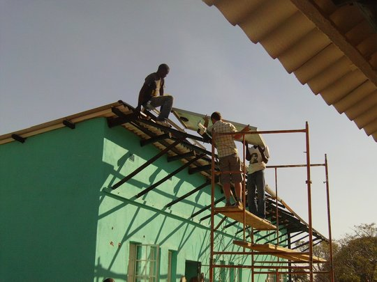 Foster & Collen installing our solar panels