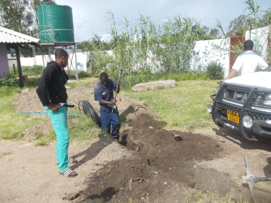 Ngqabutho installing plumbing pipes